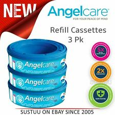 Angelcare Refill Cassettes Baby/Kid's Nappies/Diapers Cleaning Refill Pack Of 3