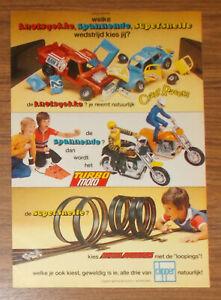 Vintage 1979 Kenner Clipper Crazy Racers Speed Burners Print Ad Netherlands