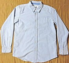 P.S. Aéropostale Boy's Solid Blue Long Sleeve Button Down Shirt, Size L (12)