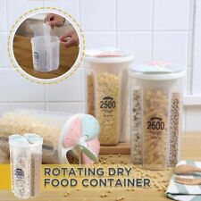 Transparent Plastic Storage Box Dry Dried Food Storage Organizer Container Box,
