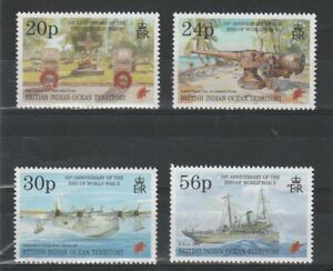 BIOT 8 MAY 1995 ANN OF THE END OF THE WAR COMMEMORATIVE SET OF ALL 4 MNH