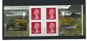 """GREAT BRITAIN 2021""""70th ANNIVERSARY NATIONAL PARKS"""" STAMP BOOKLET with Plate Nos"""