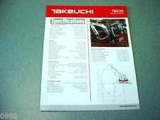 Takeuchi TB235 Hydraulic Excavator Brochure