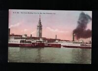 C 1915 The Ferry Building From The Bay - San Francisco California Postcard