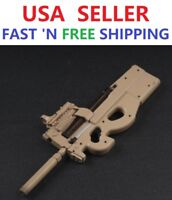 "1/6 Scale P90 Rifle Submachine Gun Toys Weapon Models For 12"" Figure"