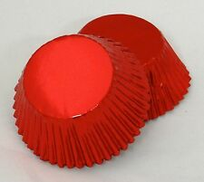 Set of 100 Red Foil Standard Muffin Baking CupCake Liners New BCF-03-100 NEW