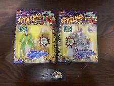 1996 Marvel Toy Biz Electro-Spark Steel Shock Spiderman + Electro