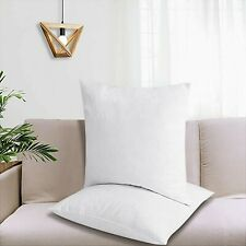 "New ListingPuredown® 2 Pack 18x18"" White Goose Down Feather Square Pillow Inserts"