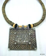 necklace hindu god ganesh laxmi traditional antique tribal old silver pendant