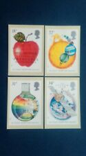 1987 SIR ISAAC NEWTON STAMPS PHQ CARDS WITH A WOOLSTHORPE, LINCS. F.D.I.