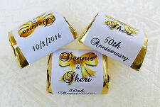 210 WEDDING ANNIVERSARY personalized WRAPPERS for your Hershey Nugget FAVORS!