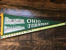 Ohio Turnpike, toll plazas, vintage Pennant banner flag sticker decal souvenir