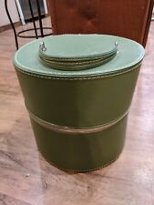 Vintage Green Travins Hat Box/Wig Case