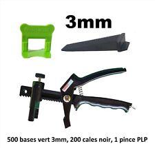 Kit 3 mm croisillon auto nivelant professionnel 500/200/pince PerfectLevel PLP.
