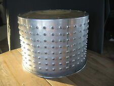 Vintage Industrial Lamp Shade Light - Pendant Salvaged Seed Drum for repurpose -