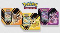 Pokemon TCG V Powers Tin Set of 3 - Eevee Pikachu Eternatus NEW - IN HAND!