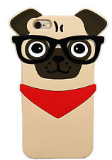 Cute 3D Animal Pug Dog silicone case cover for iPhone 5 5s SE 6 6s