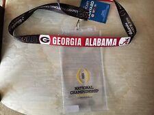 2018 College Football National Championship Alabama Lanyard/Ticket holder-FR.Shp