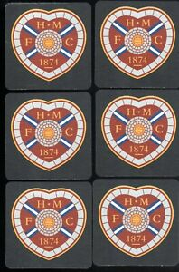 HEARTS of MIDLOTHIAN F.C. Pack of Crested Beer Mats / Coasters FREE POST UK