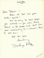 Early Films DILYS LAYE Autograph Letter Signed