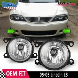 Fits 05-06 Lincoln LS PAIR Factory Bumper Replacement Fog Lights Clear Lens DOT