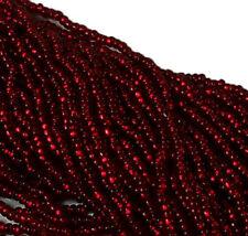 Silver Lined Garnet Czech 11/0 Glass Seed Beads 1-6 String Hank Preciosa