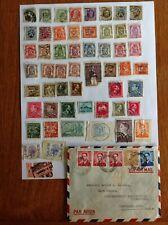 Lot of 59 Belgium stamps~1869-1971~Kings Leopold & Albert & Baudouin~1 cover