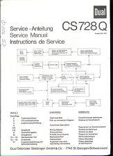 Original Factory Dual CS 728 Q Turntable Service Manual Record Player Repair