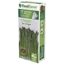 "Food Saver Refill Roll 11"" Vacuum Seal Plastic Storage Freezer Bag 2Pack (NO TAX"