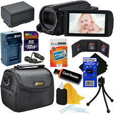 Canon VIXIA HF R700 HD Camcorder w/57x Zoom (Black) + Battery/Charger + 64GB Kit