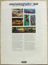FORD MOTORSPORT Publicity Brochure 1988 Formula 1 RALLYCROSS Touring Car F3000