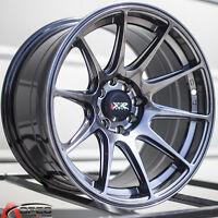 XXR 527 16X8.25 4x100/114.3 +0 Chromium Black Rims Fits Civic Ef Ek Eg Miata Mr2