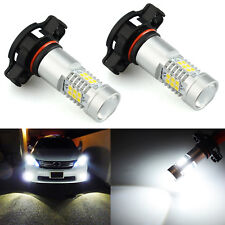 JDM ASTAR 2x 1260lm 5202 5201 Super Bright Xenon White LED Bulbs DRL Fog Lights