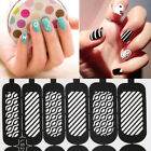 Easy Reusable Stamping DIY Nail Art Template Stickers Stencil Guide Tool IM