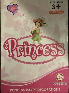 Princess Party Decorations. 12 Tiara Headbands 12 Wands 24 Rings. Lot Of 48