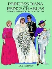Princess Diana and Prince Charles Fashion Paper Dolls in Full Color by Tom Tiern