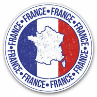 2 x Vinyl Stickers 10cm - France Flag Map Europe French Cool Gift #5167