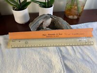"""Vintage Drafting Theo. Alteneder & Sons Scale Ruler 12"""" Full Size Half Size RARE"""