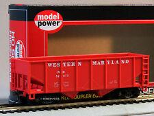 MODEL POWER HO SCALE 36' 2 BAY OPEN HOPPER WESTERN MARYLAND 99653 train 98061