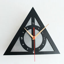 Harry Potter Deathly Hallows Clock Wall Clock Cosplay Home Decor Gifts Silver
