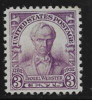 US Scott #725, Single 1932 Webster 3c VF MNH