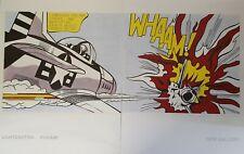 Roy Lichtenstein 'Whaam!' diptych 1990s Tate prints on paper, 120 x 80 cm I7B198