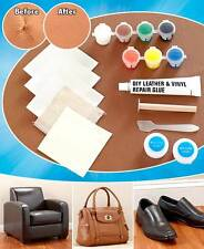 IDEAWORKS Leather and Vinyl Permanent Repair Kit Mends Rips Burns and Tears NEW