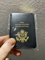 United States Constitution, Pocket Size, Genuine Leather Embossed American Eagle