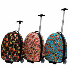 Cute Kid's Owl Printed Hard Shell Luggage Rolling Carry-on - Great Gift for Kids