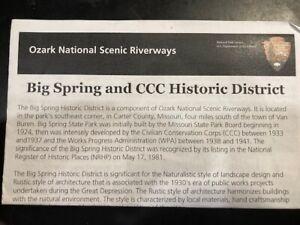 Big Spring CCC District - Official National Park NPS Brochure - Missouri - 1992