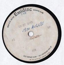 Jon - Is it Love - UK pop psych 7 inch single Emidisc acetate 1967 Near Mint