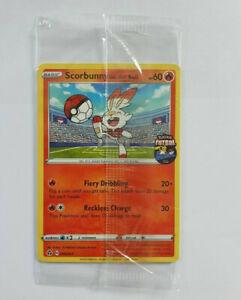 Scorbunny On The Ball  004/005 Pokemon FA England Futsal Promo Card