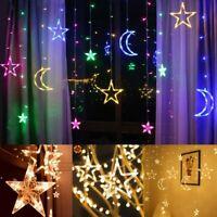Star Moon Fairy Lights LED Curtain String Light Xmas Wedding Lamp Home Decor ***