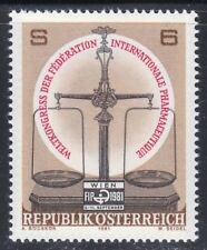 Austria 1981 MNH Mi 1679 Sc 1185 Pharmaceutical World Congress. Medical.Medicine